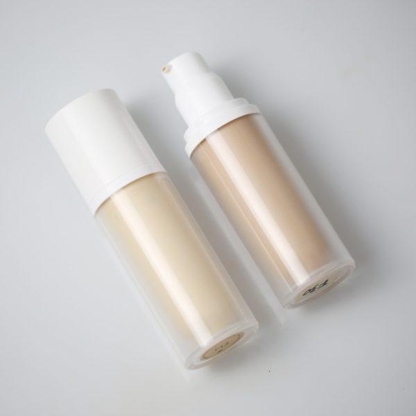 Liquid foundation white container