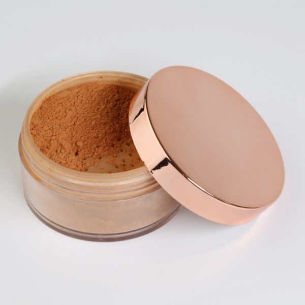 loose powder rose gold jar