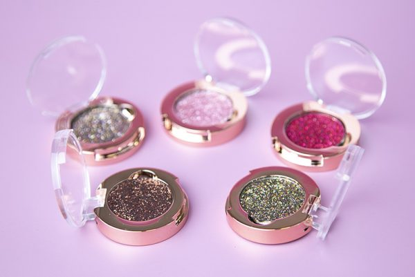 Pressed Glitter in single jar (30 colors, Water-Resistant)