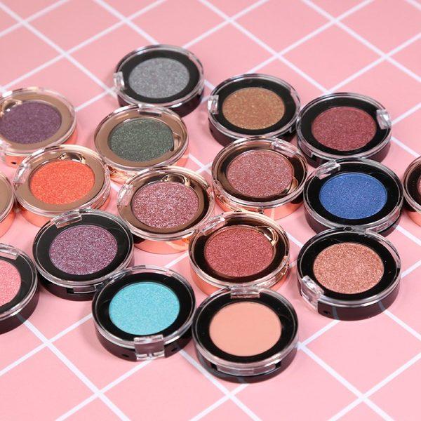Single Normal Eyeshadows (163 colors, Black or Rose gold jar)