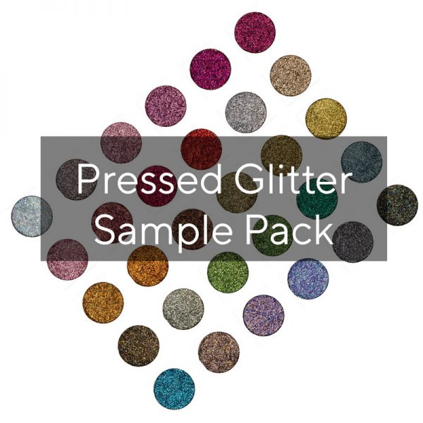 pressed glitter sample