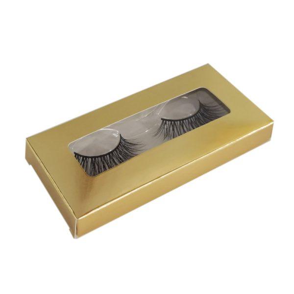 single gold lash box