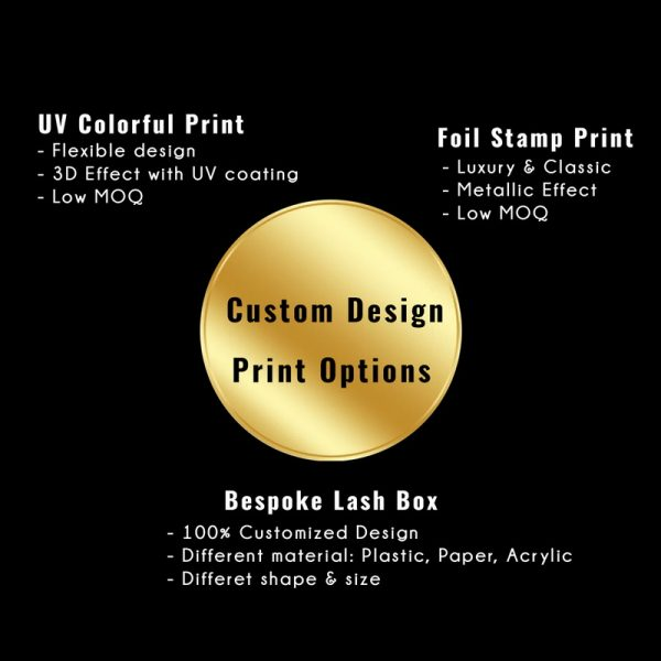 print options on lash box