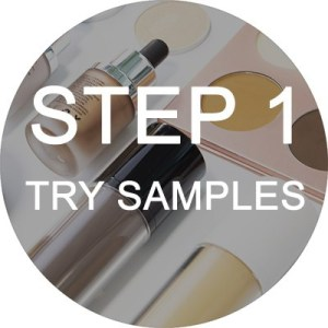 step one to do private label makeup line