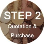 step two to do private label makeup line