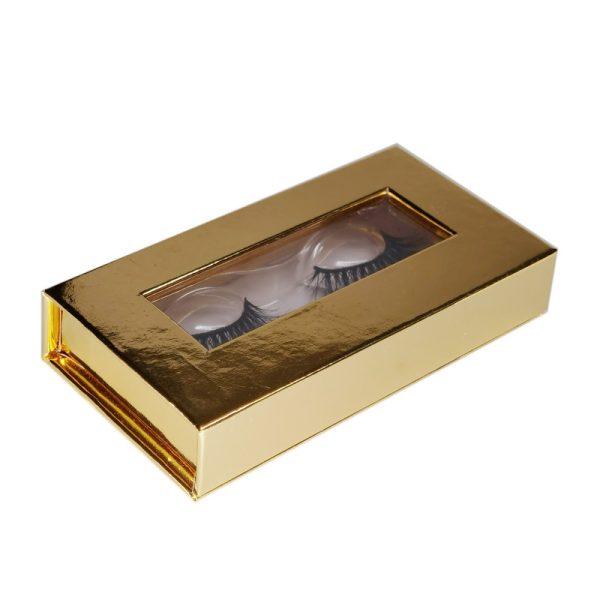 gold lash box