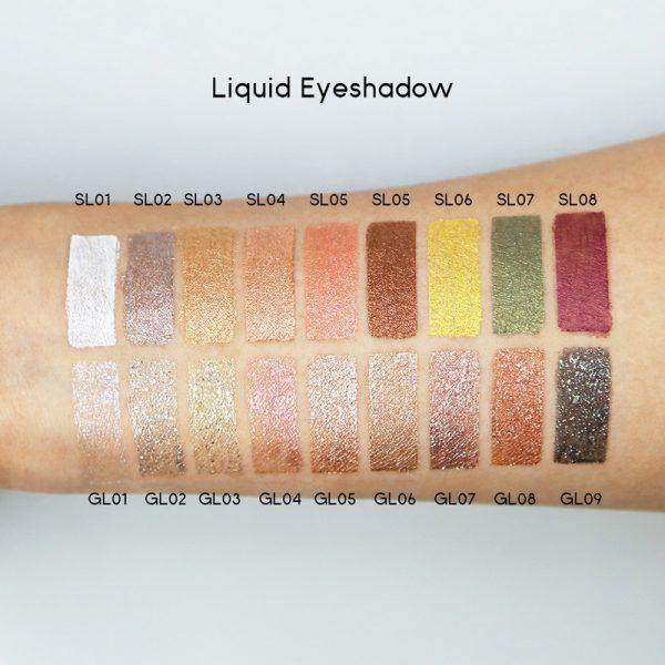 Liquid eyeshadow colors