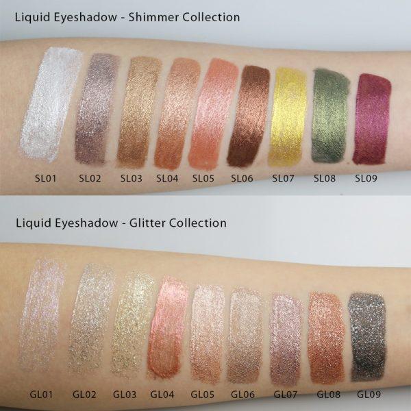 liquid eyeshadow swatches