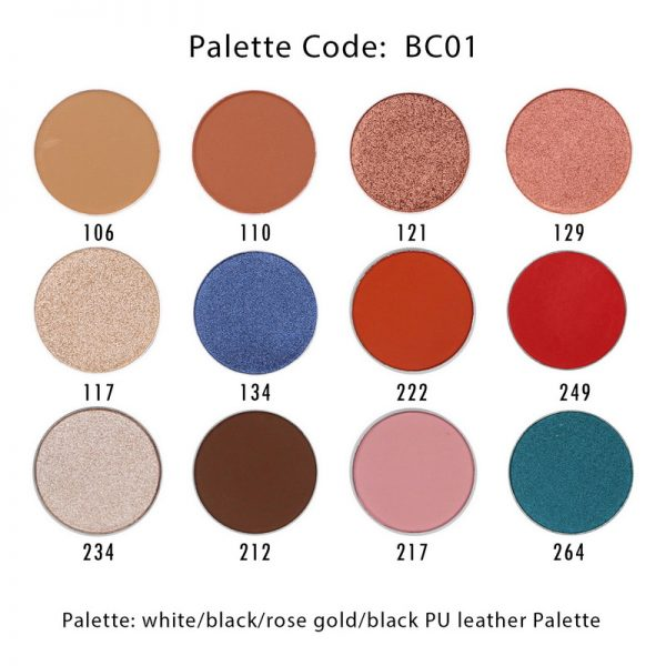 BC01-12 shades eyeshadow palette