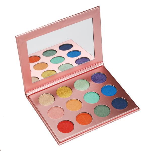 12 shades rose gold palette