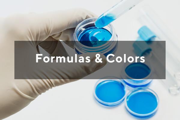 Makeup formulas and colors