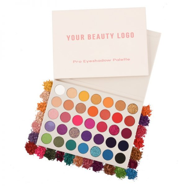 Colored pro eyeshadow palette