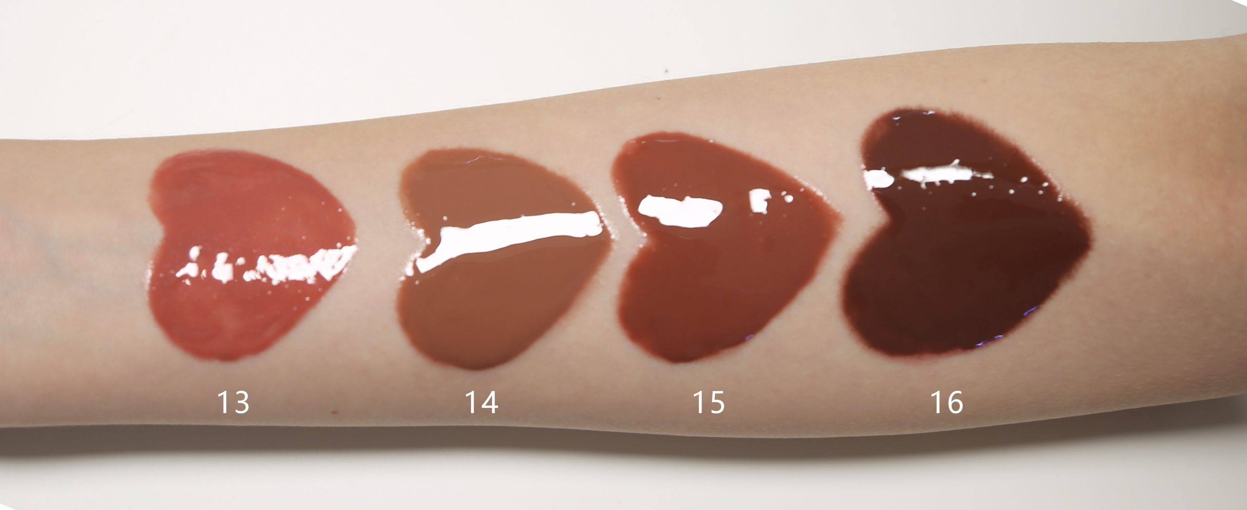 nude lip gloss swatches